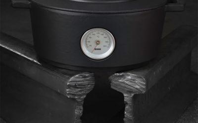 ¿Qué es el horno holandés de hierro fundido esmaltado?